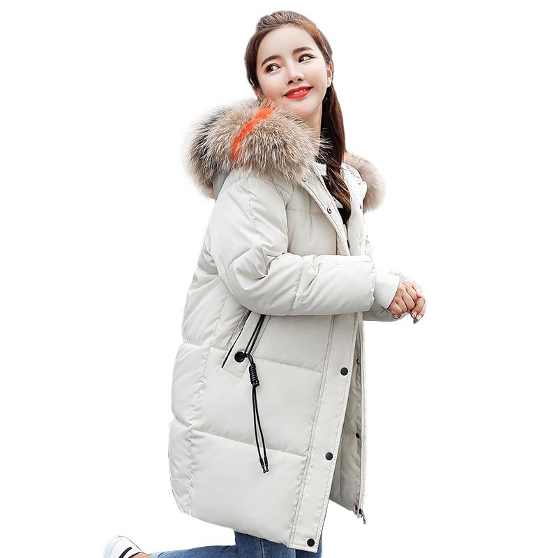 Plus Size winter jacket women Casual Loose Down Cotton Padded Parkas parkas mujer 2018 Long Hooded casaco feminino female jacket