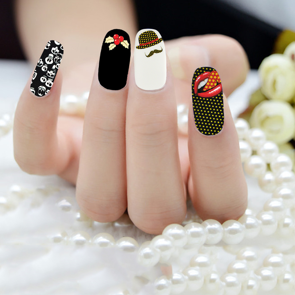 10 Pieces/lot Colored Nail Patch Dandelion Article Waterproof Full ...