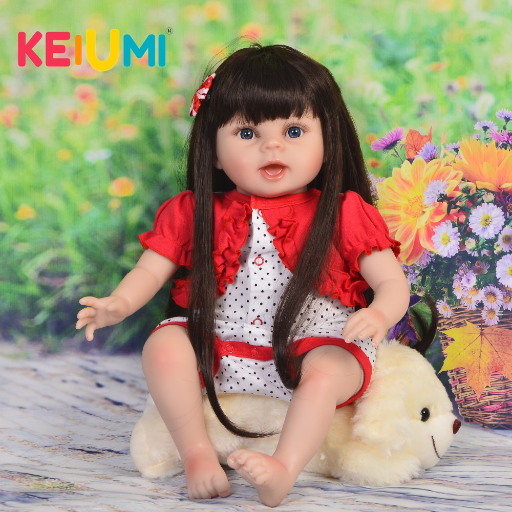 KEIUMI Real Looking 22  Soft Silicone Vinyl Reborn Baby Doll Girl 55 cm Realistic  Reborn Doll Toys For Children Birthday GiftsKEIUMI Real Looking 22  Soft Silicone Vinyl Reborn Baby Doll Girl 55 cm Realistic  Reborn Doll Toys For Children Birthday Gifts