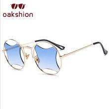 5e75ce79f1923 Moda Rodada Óculos De Sol Mulheres Steampunk Do Vintage losango Diamante  Limpar Len UV400 Óculos Shades Eyewear Óculos de Sol lu.