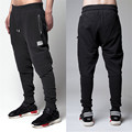 2016 New Fashion Biker Joggers Slim Fit Skinny Sweatpants Harem Pants Men Hip Hop Swag Clothes Clothing High Street Black