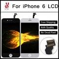 10 pçs/lote no dead pixel garantia 100% grade aaa para iphone Substituição Da Tela LCD 6 4.7 Preto e Branco Livre DHL grátis