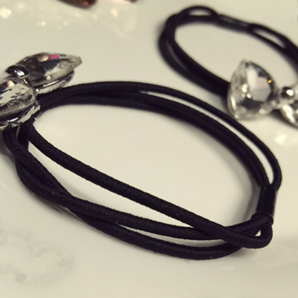 Crystal Hair Band Elastic Rubber Rope Headbands Ponytail Holder For Women Hair Scrunchies Headdress Jewelry in Hair Jewelry from Jewelry Accessories