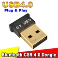3Mbps USB 4.0 Version Bluetooth 4.0 Adapter Wireless Connector EDR Adapter Dongle 1-100M Range for Laptop Notebook PC Computer