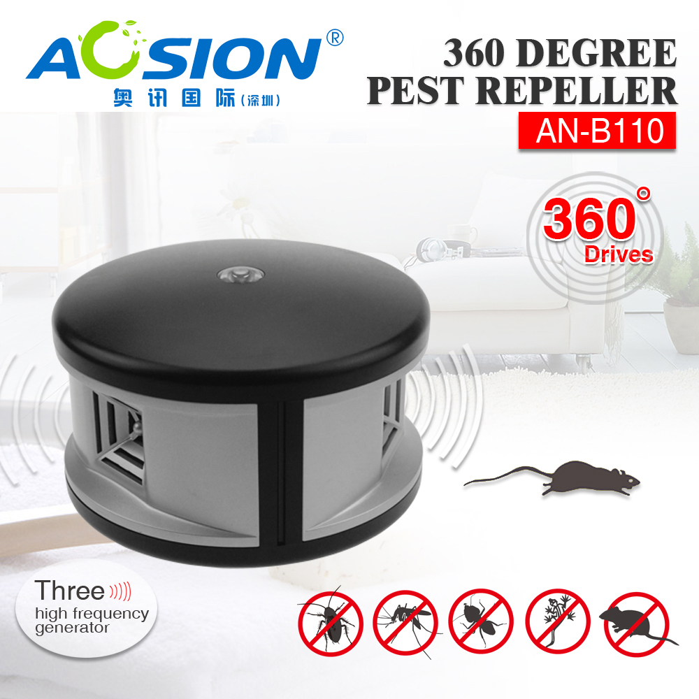 Aosion Unique Powerful Pest Control Ultrasonic 360 Degree Eco Friendly Indoor Pest Repeller