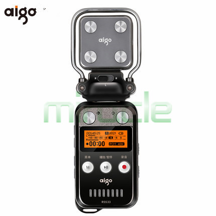 Aigo R5533 Digital automatic recorder professional 50m recording outage save noise reduction font b MP3 b