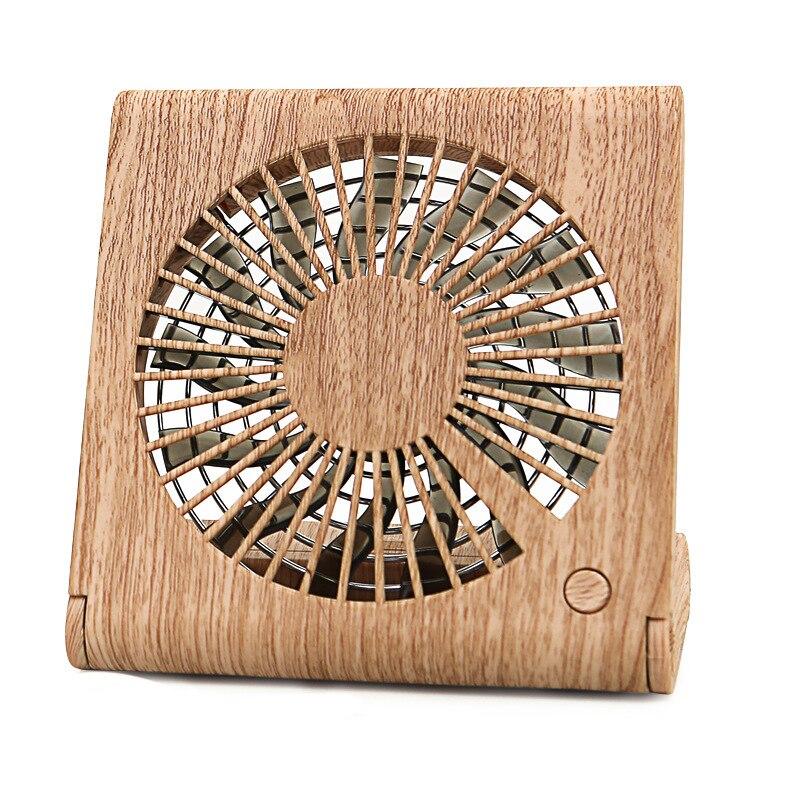 Foldable Handheld Personal Fan Portable Desktop Mini Fan USB Mini air cooler for room Creative wood fan|Fans| |  - title=