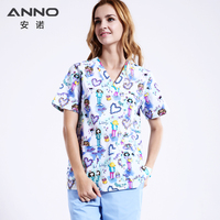 ANNO 5XL White Nursing Uniform Plus Size Medical Clothing Gown Women Men Surgical Clothing Hospital Scrubs