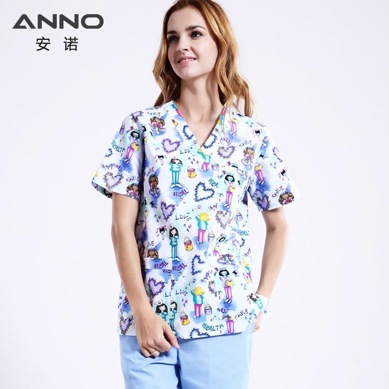 White Lovely Nursing Uniform Unisex WomenMen Pakaian Perubatan - Barang baru