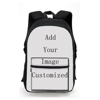 High quality custom pattern fashion fabric backpack for young cotton cloth bag printing bag for children girl boy bag