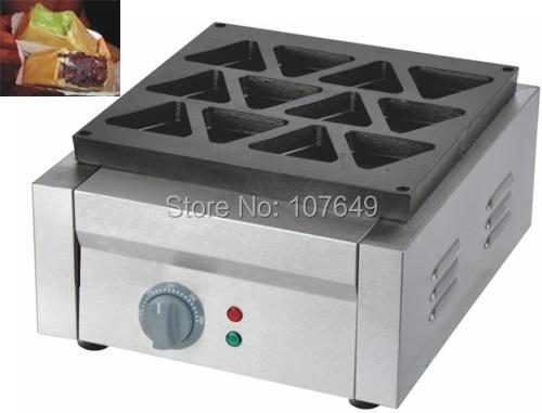 Hot Sale 9pcs Commercial Use Non-stick 220v Electric Triangle Dorayaki Cake Machine Maker Baker hot sale 16pcs gas bean cake machine