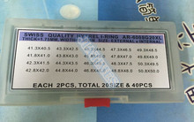 a892a14b8de Frete Grátis 40 PCs Qualidade Premium 2.0mm Grosso Relógio de Cristal Eu  anel para Grandes Tamanhos de 40.5mm a 50mm para Repara.