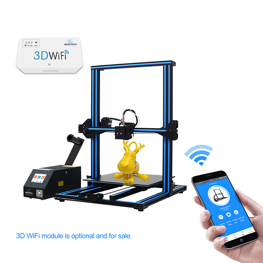 GEEETECH Open Source A30 DIY 3D Printer Colorful Touch Screen Large Printer Area Break resuming 3D