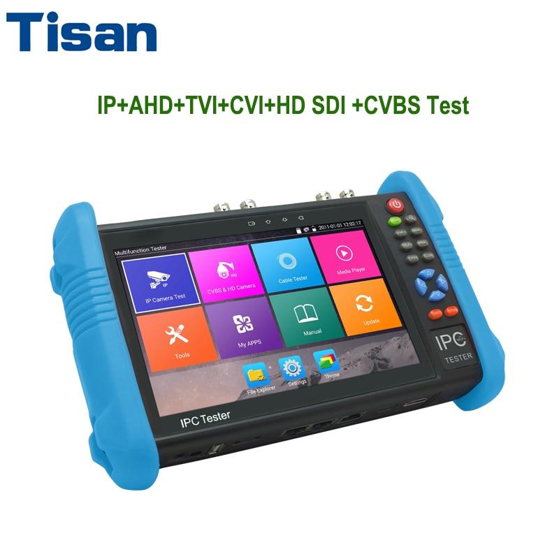 New 7 inch H.265/ H.264 4K IP camera tester TVI CVI AHD cctv tester Analog HD SDI tester CCTV CVBS Test monitor спиннинг штекерный daiwa exceler ru exc ru 962 mfs