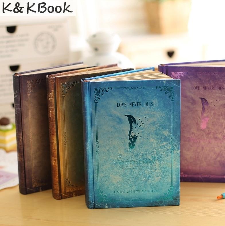 JINGU Vampire Diaries Notebook Carta di vendita Calda Nuovo Ultimo Regalo Vintage Promemoria Giornalieri Colorati Pagine Interne