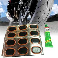 цена на 48 Pcs+1 Glue MTB Bike Tyre Patch Puncture Maintenance Tyre Patch Rubber Cycling Motor Bicycle Patch Kit Repairing Tools