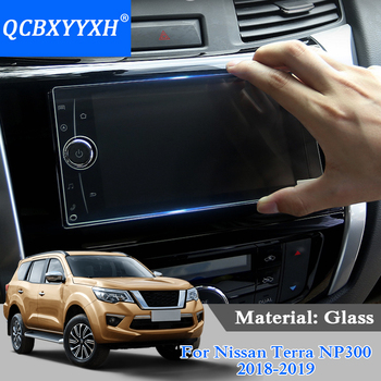 QCBXYYXH Car Styling GPS Navigation Screen Glass Protective Film For Nissan Terra Navara NP300 Control LCD Screen Car Sticker image