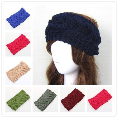 Mujer adulto invierno trenzado ganchillo vendas elásticos headwrap Head  hair band turbante pañuelo wraps accesorios para las mujeres 252f1873f8f