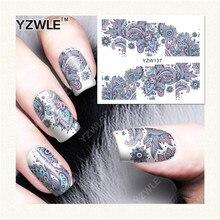 Трансферная yzwle маникюра салона листов вода печать наклейки ногтей diy аксессуары