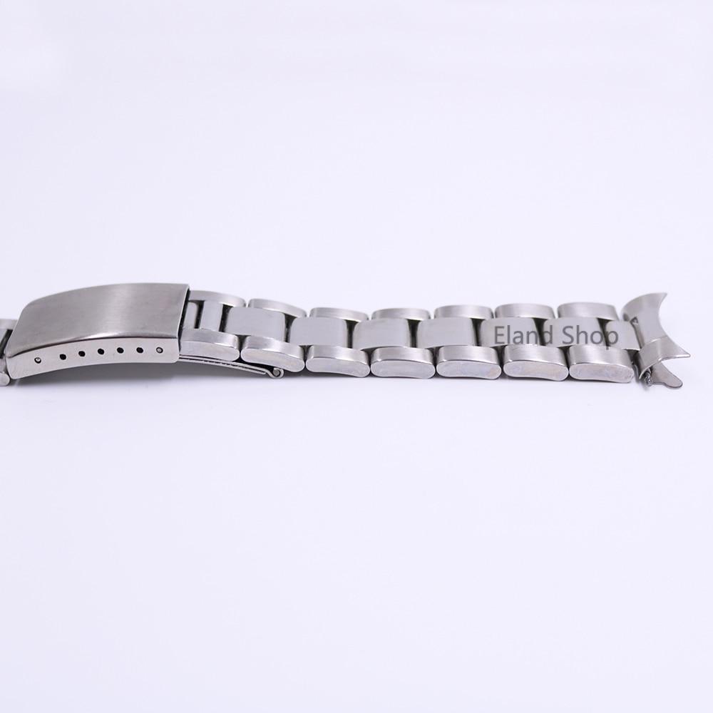 CARLYWET 19 20mm Rustfrit stål Sølv Mellem polsk Hult buet ende - Tilbehør til ure - Foto 4