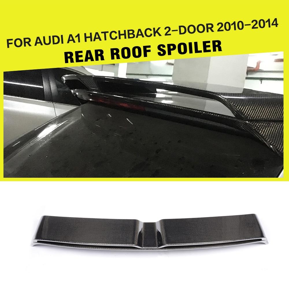 Fibra de carbono/FRP Spoiler Traseiro Tronco Asas Janela Do Carro Lábio-Estilo para Audi A1 8X Hatchback 2010 -2014