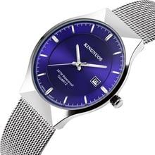 цена на Mens Watches Top Brand Luxury Quartz Watch Men Casual Stainless Steel Calendar Mesh Waterproof Sport Watch Male Military Watch