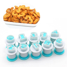 10/26pcs Upper & Lowercase Alphabet Cookie Cutter Plastic Capital Letters Fondant Baking Cupcake Mold Cake Decorating