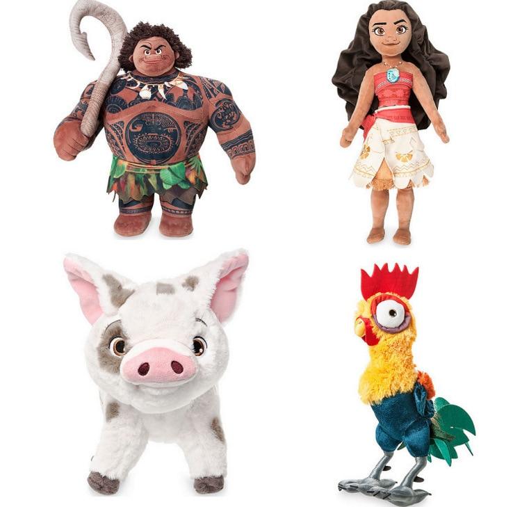 Moana Plush Toys Kawaii Princess Moana Maui Heihei Plush Stuffed Toy Cartoon Moana Adventure Doll Toys Gift For Children Girls