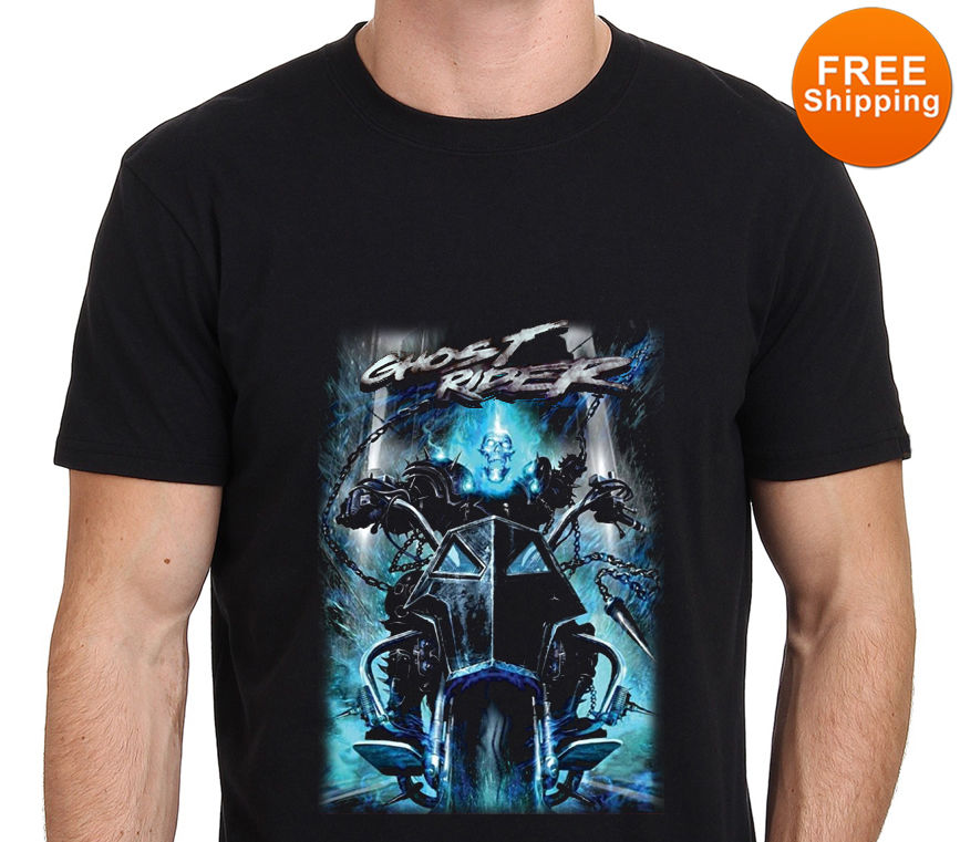 Ghost Rider Ride Fire Marvel MenS T Shirt Size: S To Xxl