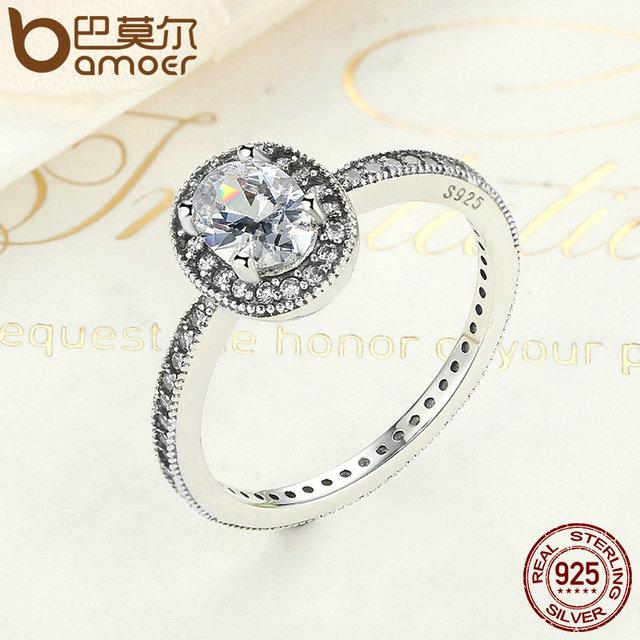 Sterling Silver Vintage Elegance & Clear CZ Ring