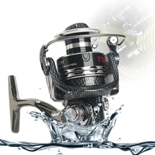 NUEVA Llegada Marca Antiguedad 1000-10000 Spinning Pesca Carrete 12 + 1BB Pesca de agua dulce Tackle Ligero
