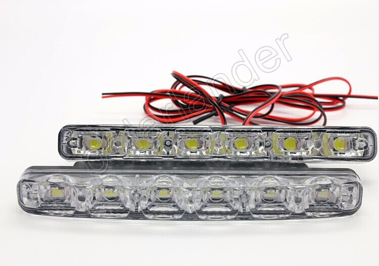 New Hot Sale car DRL car daytime running light Lamp-PY 6 LED Free Shipping 2Pcs