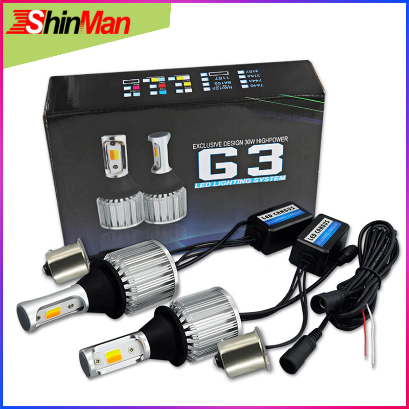 ShinMan 30W 1156 bau15s 7507 py21w led Car light LED dayligh LED DRL Car daytime running