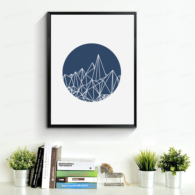 geometric art abstract mountains canvas art poster