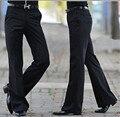 2016 мужские Расклешенные брюки Формальные брюки Клеш Брюки костюм брюки Размер 28-36 Черный Бесплатная доставка
