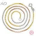 Nova moda prata esterlina 925 jóias finas colorido elo da cadeia colar para as mulheres do partido cor misturada jóias xd y710f