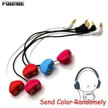 Новый точка двое влюбленных аудио кабель 3.5 мм для наушников сплиттер Музыка Обмен наушники аудио разъем линии удлинитель адаптер