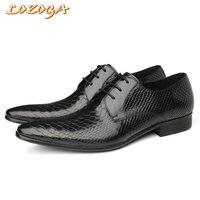 Engeland Vintage Stijl Mans Dress Schoenen Lederen Handgemaakte Python Lijnen Schoen Formele Bruiloft Awesome Schoenen Puntschoen