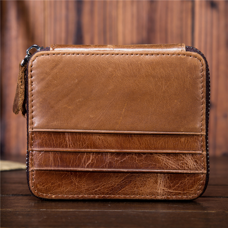 RFID Blocking Brand Wallet Men Leather Men Wallets Purse Short Male Clutch Leather Wallet Mens Money Bag Quality Guarantee 1026 in Card ID Holders from Luggage Bags