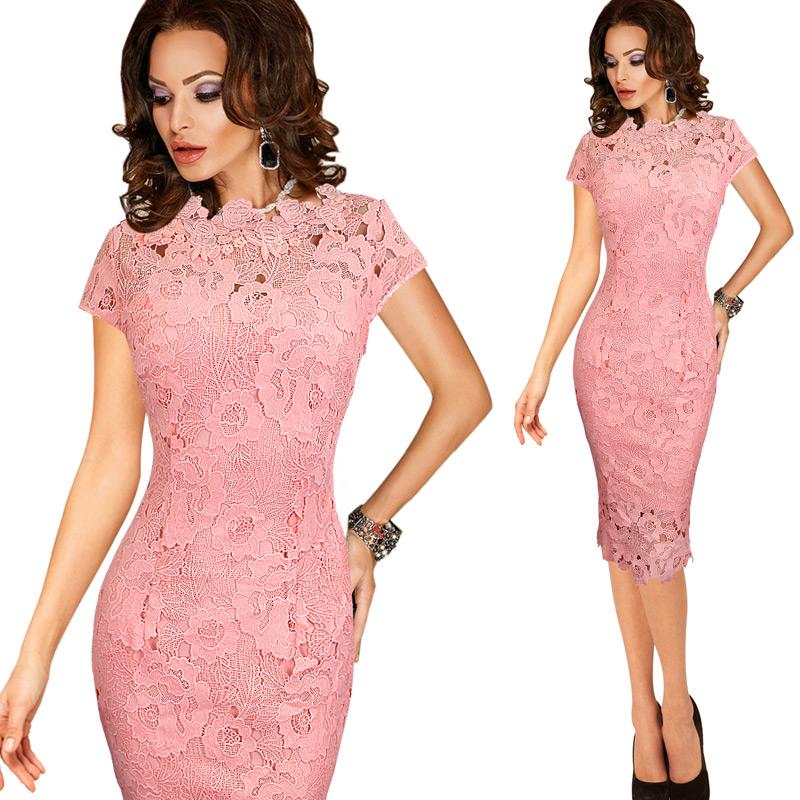 Обтягивающее гипюровое платье фото
