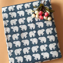 Lovely Bear Canvas Fabric Printed Cotton Linen DIY Patchwork Handmade Sewing Crafts Quilting Cloth