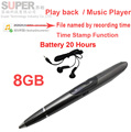 S1 8GB music player MP3 player voice recorder w/ time stamp voice activated battery 20H works audio recorder flash memory player