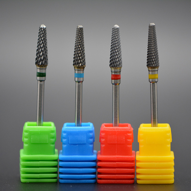 MAOHANG 1pcs Tungsten Carbide Cutter Burrs Nail Drill Bit Metal Bits For Electric Manicure Nail Drill Accessories 2