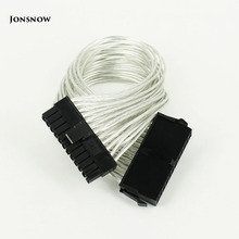 JONSNOW 24 Pin PSU Power Supply Extension Cable power 30cm pin Male to Female ATX Mining for Computer Adaptor