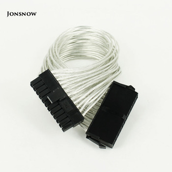 цена на JONSNOW 24 Pin PSU Power Supply Extension Cable power 30cm 24 pin Power Supply Male to Female ATX Mining for Computer Adaptor
