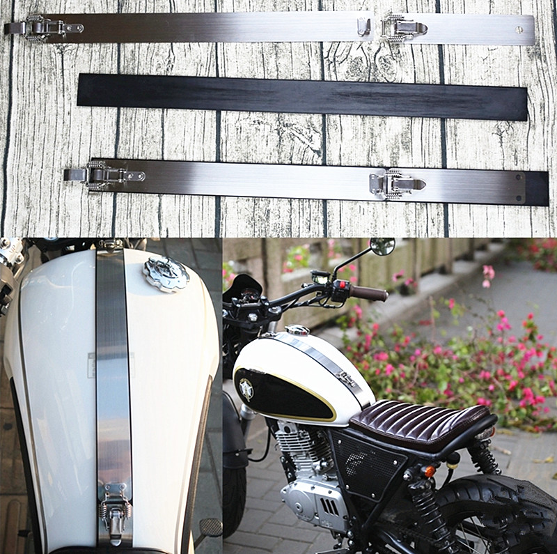 New Cafe Racer vintga Motorcycle tank cover Decal Sticker Stainless custom made-in Covers & Ornamental Mouldings from Automobiles & Motorcycles    1