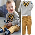 New autumn boy set 2017 Children Tracksuit kids clothing suit boy hoodie+trousers 2 PCS set