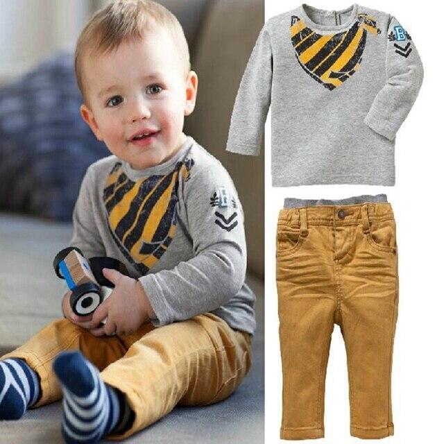 New autumn boy set 2017 Children Tracksuit kids clothing suit boy hoodie+trousers 2 PCS set