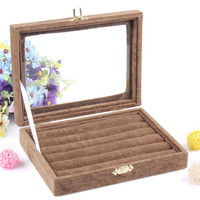 Wholesale Purple Brown Color Bijou Display Box Jewelry Sets Necklace Earrings Ring Packing Gift Box