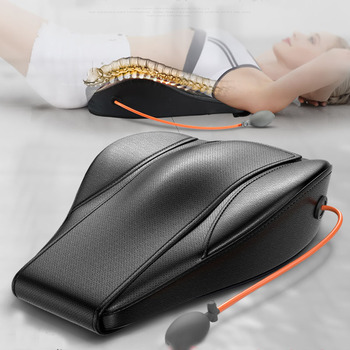 Backache Relief Massager Instrument Electric Heated Pillow Lumbar Disc Protrusion Physiotherapy Lumbar Spinal Traction Orthosis